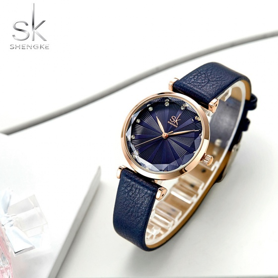 Đồng hồ nữ chính hãng Shengke Korea K0099L-03 xanh dương