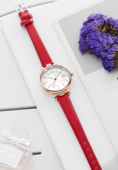 Đồng hồ nữ chính hãng Shengke UK K8067L-04 Đỏ