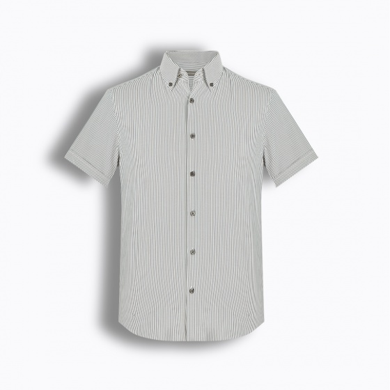 Áo sơ mi nam tay ngắn họa tiết The Shirts Studio Hàn Quốc TD45F6157BK95
