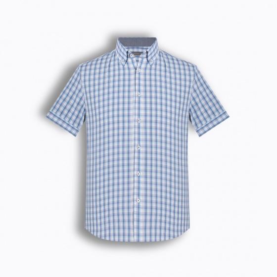 Áo sơ mi nam tay ngắn họa tiết The Shirts Studio Hàn Quốc TD42F2112BL095