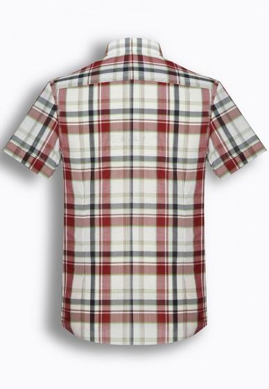 Áo sơ mi nam tay ngắn họa tiết The Shirts Studio Hàn Quốc TD45F2314GR100