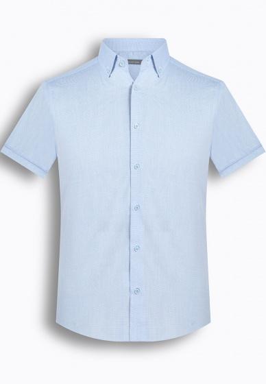 Áo sơ mi nam tay ngắn kẻ caro The Shirts Studio Hàn Quốc TD42F2120BL size 95