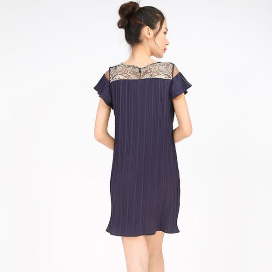 Đầm suông dập ly xanh Angeli Phạm D078X