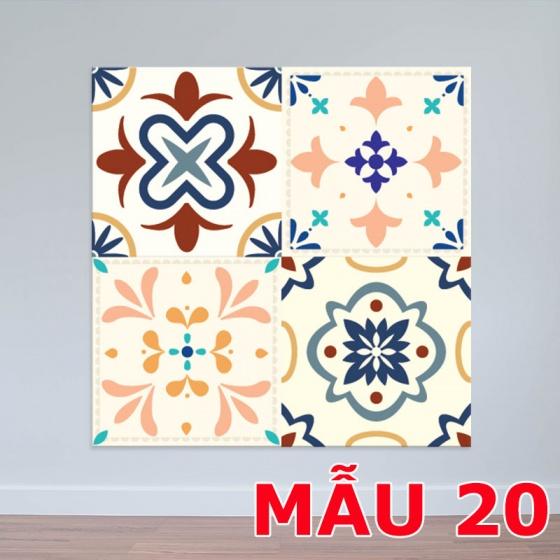 Decal hoa văn decal gạch bông 20x20cm – WD140