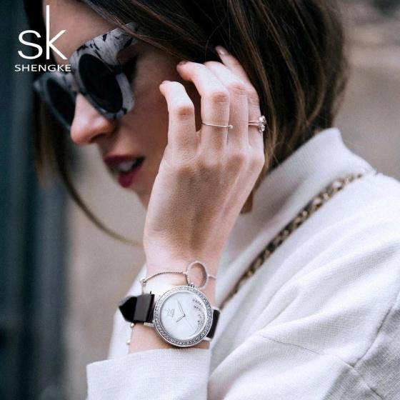 Đồng hồ nữ chính hãng Shengke Korea K0085L-01 Đen