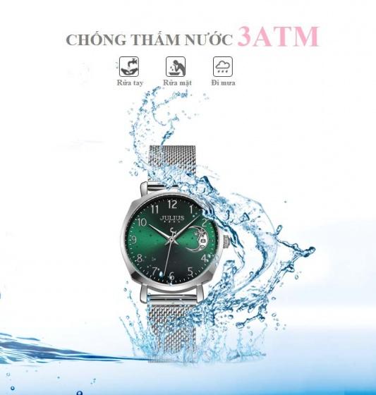 Đồng hồ nữ JA-1146 Julius Hàn Quốc dây thép (5 màu)