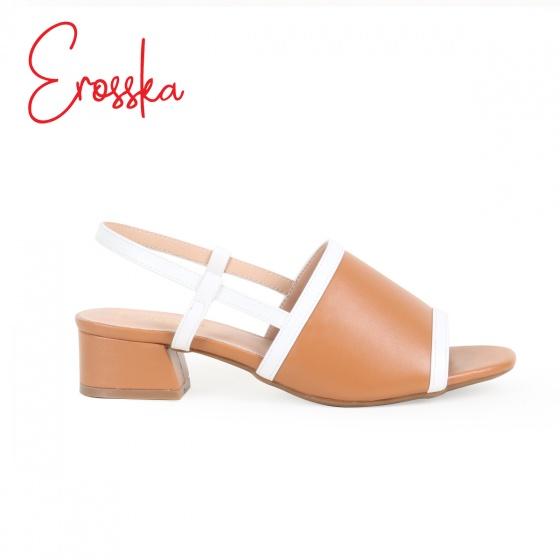 Giày sandal cao 3 phân phối dây thời trang Erosska EM011 ( Màu cam đất)