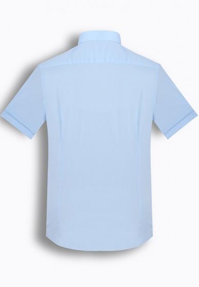 Áo sơ mi nam tay ngắn trơn màu The Shirts Studio Hàn Quốc TD45F2302BL