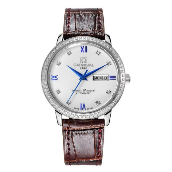 Đồng hồ nam dây da Carnival G50805.314.033