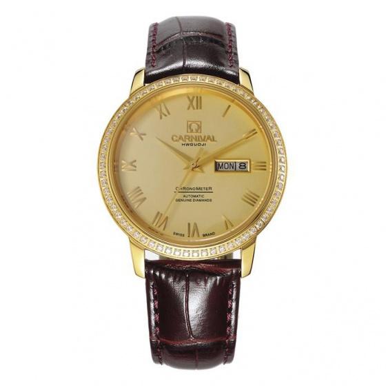 Đồng hồ nam dây da Carnival G50805.303.333