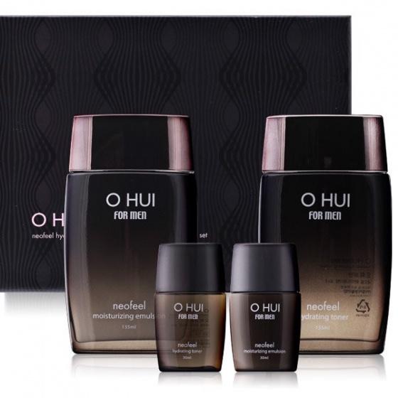 Bộ hai sản phẩm Toner + sữa dưỡng da cho nam Ohui For Men Neofeel 2-piece set