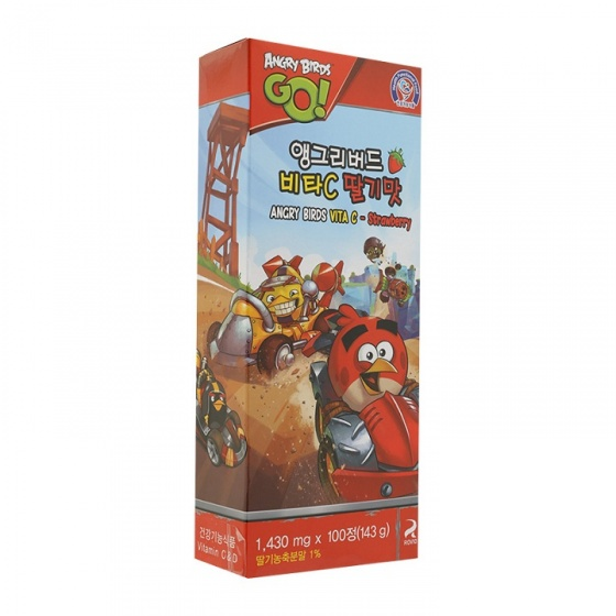 Kẹo Angry Birds Vita C vị dâu YUYU HEALTHCARE Hàn Quốc