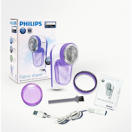 Máy cắt lông xù Philips GC027 (Tím) - Hàng nhập khẩu