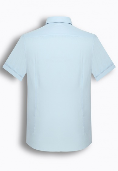 Áo sơ mi nam tay ngắn trơn màu The Shirts Studio Hàn Quốc TD45F6111BL095