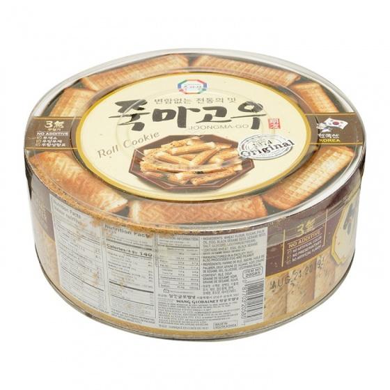 Bánh cuộn vị vừng đen Joongma-Go Hàn Quốc 365g - combo 3 hộp