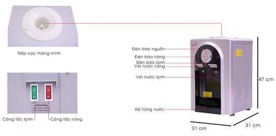 Cây nước nóng lạnh Kachi LN-04