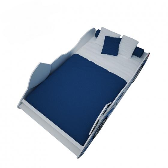 Giường trẻ em mô tô (1m2) - xanh dương