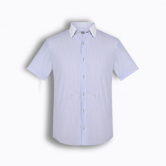 Áo sơ mi nam tay ngắn họa tiết The Shirts Studio Hàn Quốc  TD11F2327BL