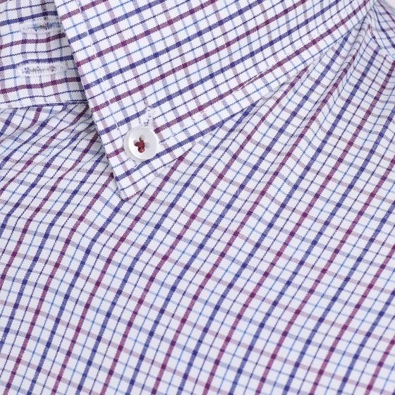 Áo sơ mi nam tay ngắn họa tiết The Shirts Studio Hàn Quốc TD42F2104BL