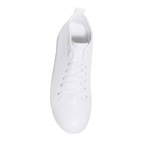 Giày thể thao nam cổ lửng màu trắng đế khâu rất chắc chắn và năng động - T447-TRANG