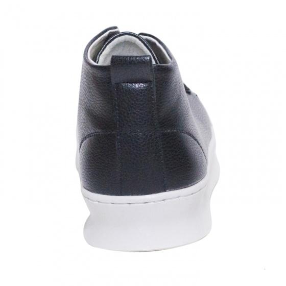 Giày thể thao nam cổ lưng màu đen đế khâu rất chắc chắn năng động - T447-DEN