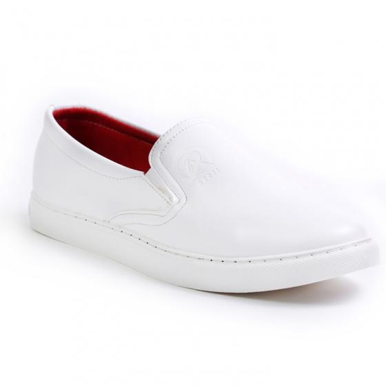 Giày slip on nam Aroti đế khâu chắc chắc phong cách đơn giản màu trắng - M498-TRANG