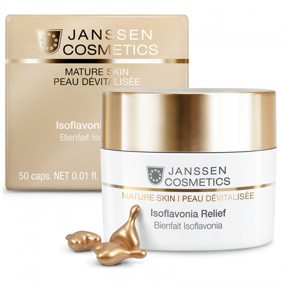 Viên nang tái tạo & khôi phục tế bào da - Janssen Cosmetics Isoflavonia Relief 50 viên