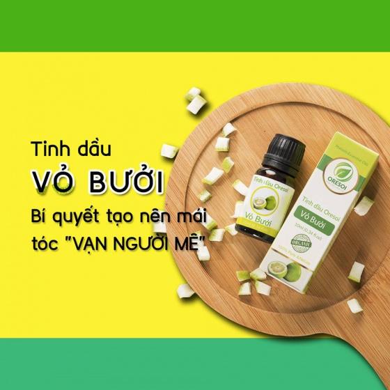Combo 3 lọ tinh dầu vỏ bưởi hữu cơ nguyên chất (10ml) - Tinh dầu hữu cơ Oresoi