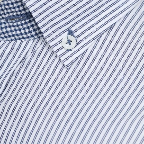 Áo sơ mi nam tay ngắn họa tiết The Shirts Studio Hàn Quốc TD42F2308NY