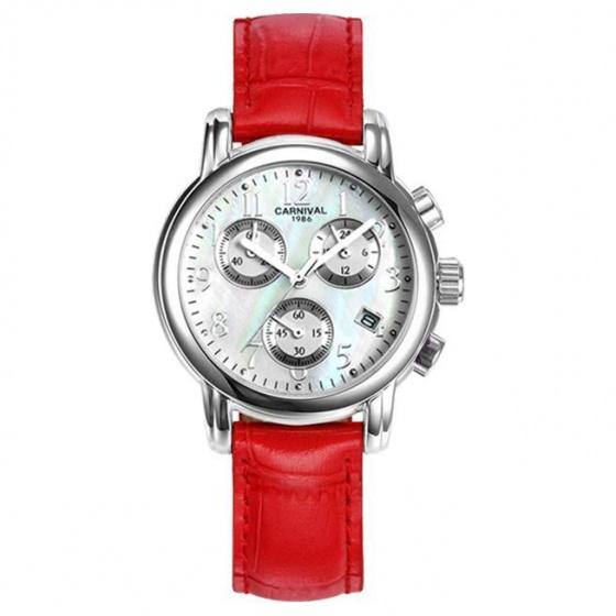 Đồng hồ nữ dây da Carnival L47001.201.035