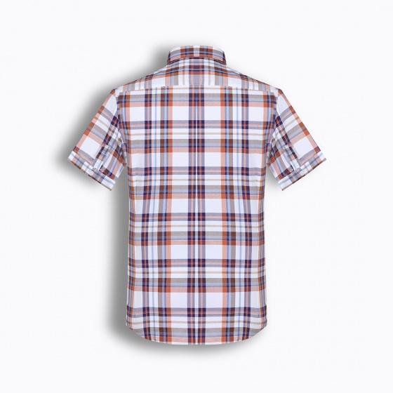 Áo sơ mi nam tay ngắn họa tiết The Shirts Studio Hàn Quốc TD13F2384BR