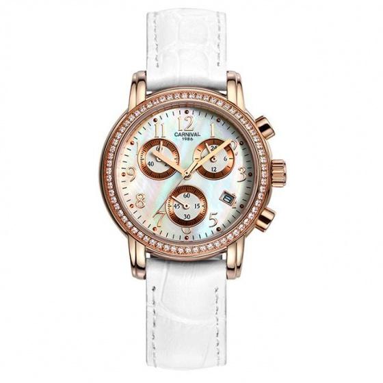 Đồng hồ nữ dây da Carnival L47002.201.431