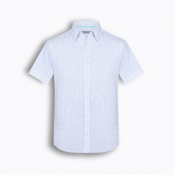 (Mua áo tặng carvat) áo sơ mi nam tay ngắn Hàn Quốc The Shirts Studio - TD13F2310BL- size 95