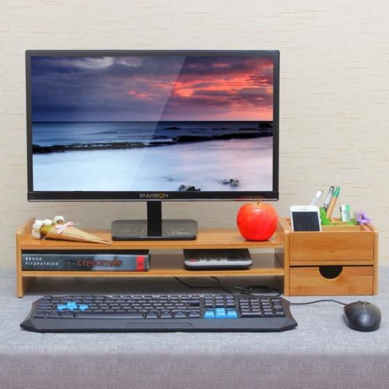 Kệ gỗ lắp ghép mini thông minh cho PC nhiều ngăn Aturos 3N1B