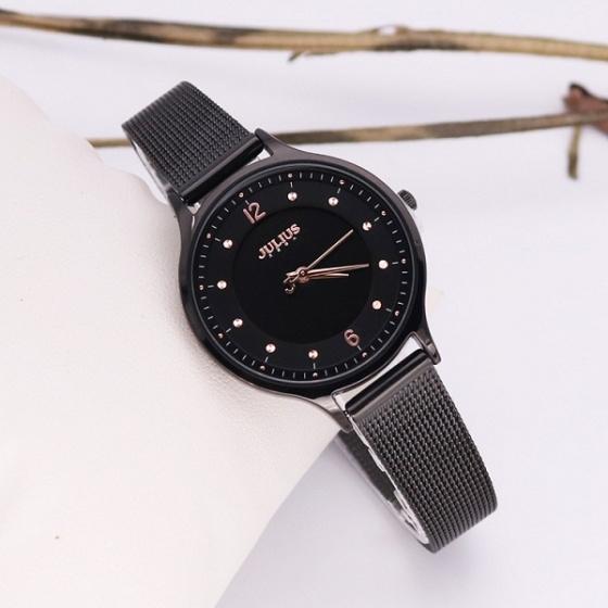 Đồng hồ nữ dây kim loại Julius Hàn Quốc JA1060E 3 màu ( đen, đồng nâu, đồng hồng)