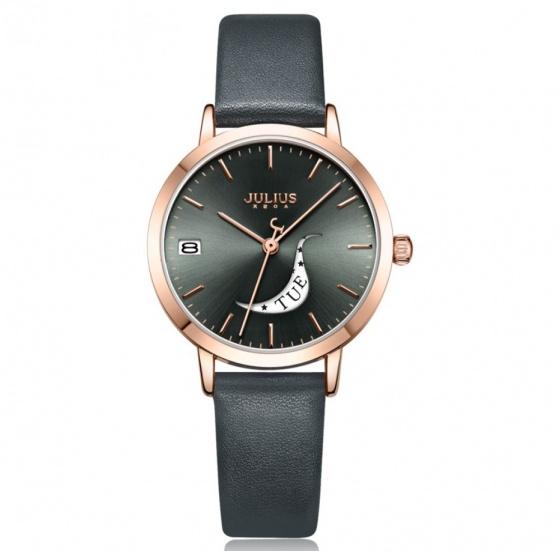 Đồng hồ nữ Julius Hàn Quốc  JA-1076E dây da ( đen)