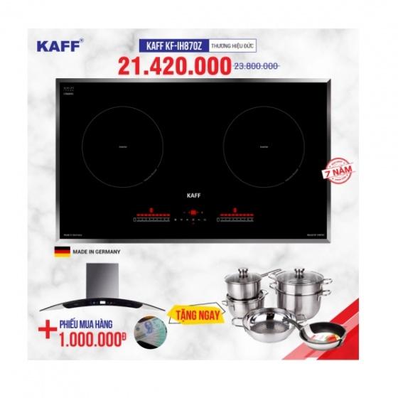 Bếp từ đôi cảm ứng KAFF KF-IH870Z - Tặng hút mùi, bộ nồi cao cấp, nhập khẩu nguyên chiếc từ Đức