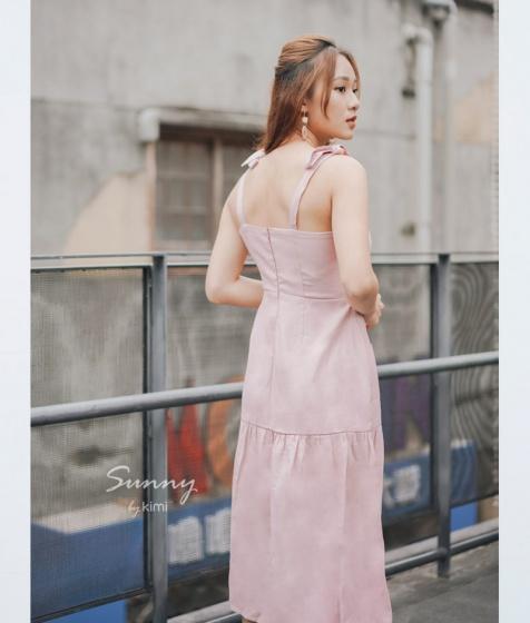 Đầm đuôi cá tay nơ - AD190013
