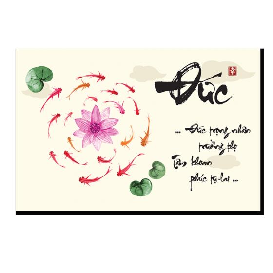 Tranh canvas Shago-thư pháp chữ đức
