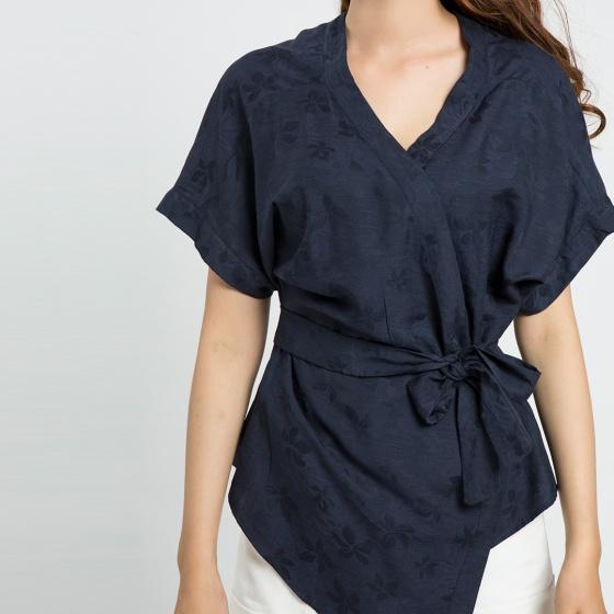 Áo kiểu kimono Hity TOP088 (xanh thủy thủ sailor)