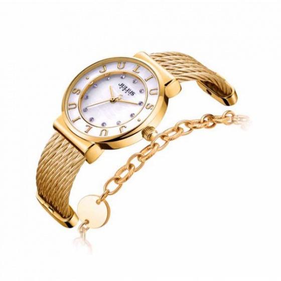 Đồng hồ nữ ja-1068b julius hàn quốc dạng vòng (vàng)