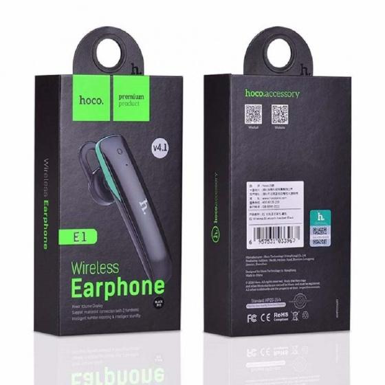 Tai nghe Bluetooth Hoco E1 đen (BB)