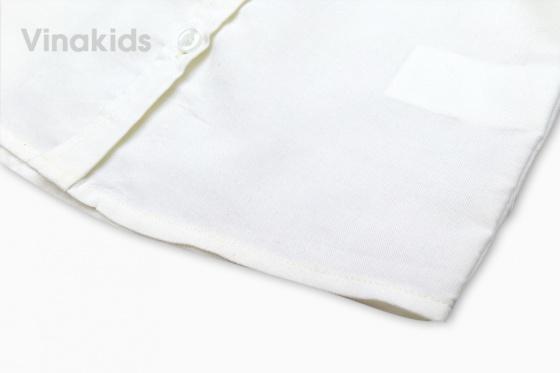 Áo sơ mi bé trai Vinakids thêu hươu màu trắng 1 - 7 tuổi