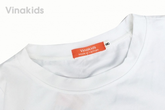 Đồ bộ bé gái Vinakids quần giả váy thiên nga màu trắng 7-10 tuổi