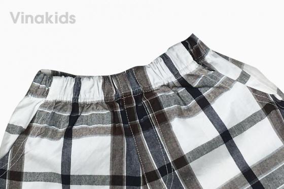 Đồ bộ bé trai có cổ thêu logo Vinakids 7-12 tuổi