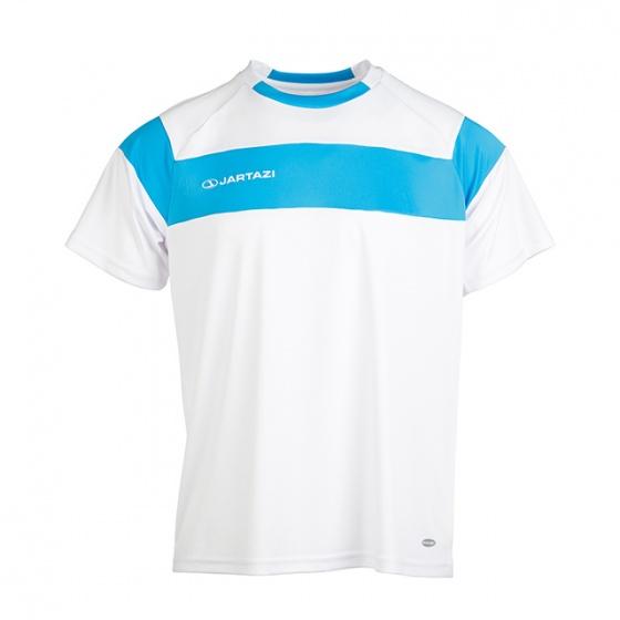 Áo thun nam không cổ ngắn tay Cordoba Jartazi (Poly T-Shirt Cordoba) JA4040M (trắng phối xanh)