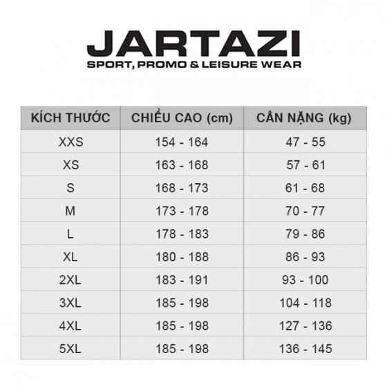 Áo thun nam không cổ ngắn tay Cordoba Jartazi (Poly T-Shirt Cordoba) JA4040M (đỏ phối trắng đen)