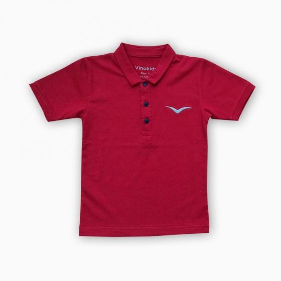 Áo thun có tay thêu logo Vinakids 1-7 tuổi