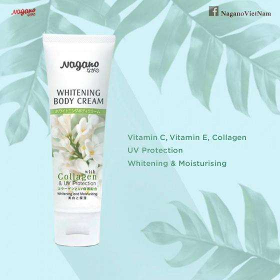 Kem trắng da chống nắng toàn thân Collagen Nagano - 75ml