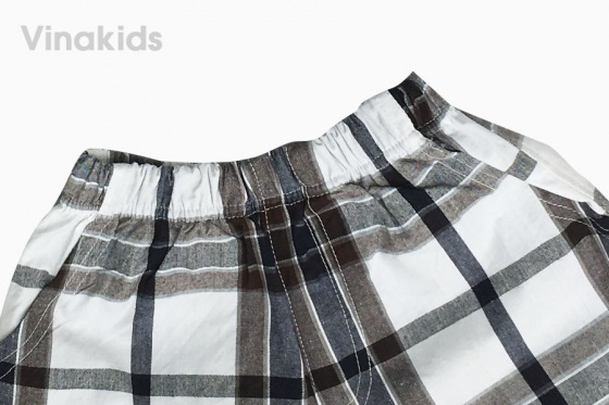 Đồ bộ bé trai cổ trụ thêu logo Vinakids  2 - 7 Tuổi